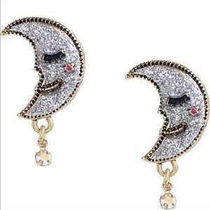 Betsey Johnson Half Moon Earrings